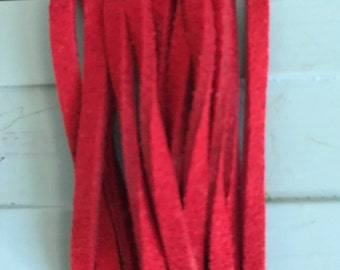 Red faux suedette jewellery cord