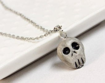 Skull Necklace - Halloween necklace - Charms - Creepy Cute - Skeleton Costume -Halloween Outfit - Skeleton Costume - Death necklace - Kawaii