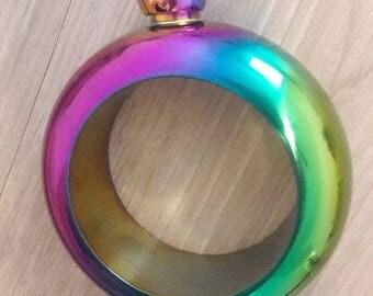 Single Rhinestone Bracelet Flask, booze bracelet, Personalized Hip Flask, Booze Flask, bangle flask, Gag Gift, Bridal Party,Booze Bangle