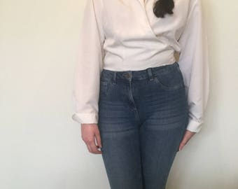 Vintage 80's White Blouse