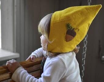 Child's Woodland Hat / Children's Winter Hat / Gnome Hat / Fairy Hat / Kids Hat /  Pointed Hat / Hobbit Hat / Wool Hat