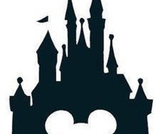 Disney Castle with Mickey Mouse Head Decal