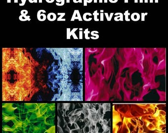 Hydrographic Dip kit with 6oz activator and 1 Linear Meter of Hydrographic Film