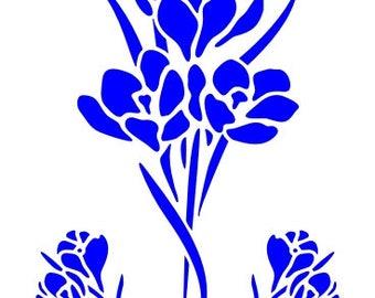 530 Crocus stencil