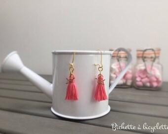 Tassels and cranes earrings