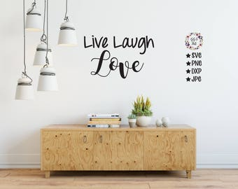 Love Live Laugh Etsy - Wall decals live laugh love