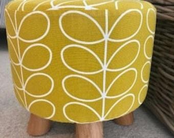 Orla Kiely Dandelion Linear Stem Fabric Footstool
