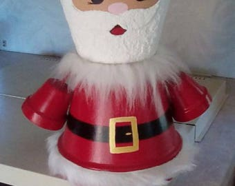 Santa Claus flower pot
