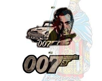 James Bond Embroidered Big Patches 007 Movie Spectre Auric Goldfinger Sean Connery Roger Moore Daniel Craig Aston Martin DB5 Lotus Spirit