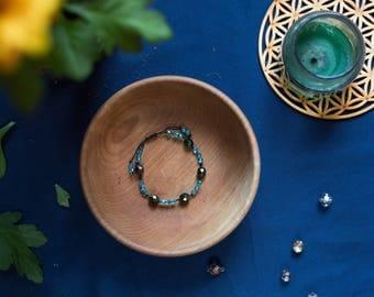 5/3 dark green and turquoise magic bracelet