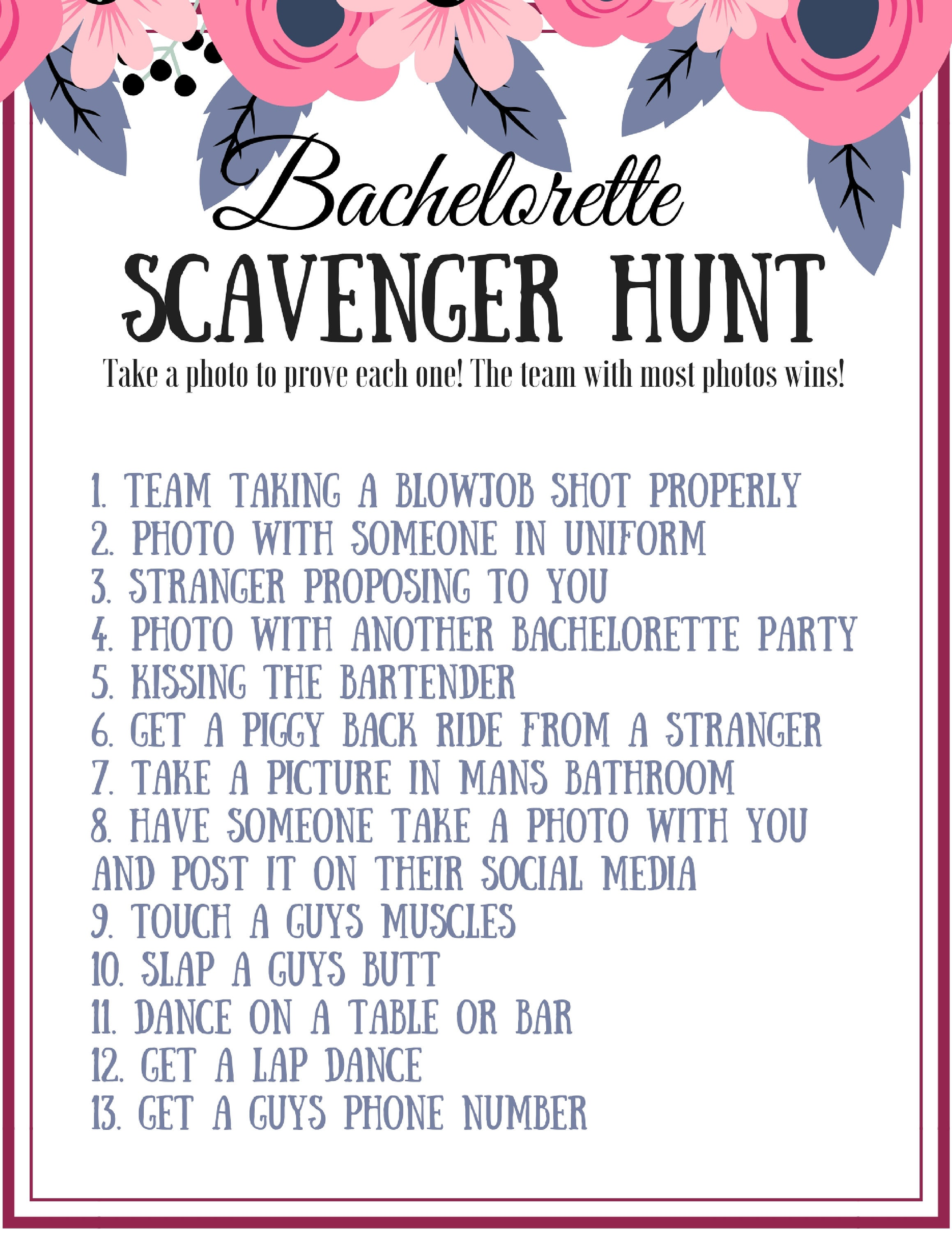 Bewitching image with regard to bachelorette scavenger hunt printable