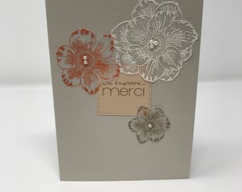 """Simple floral card """"a huge thank you"""""""