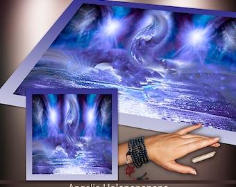 Crystal Grid Cloth - Angelic Ho'oponopono - Crystal Meditation Energy Grid