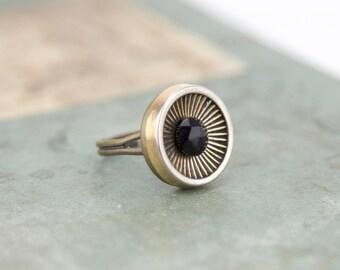 Vintage - genuine vintage buttons #1295 ring