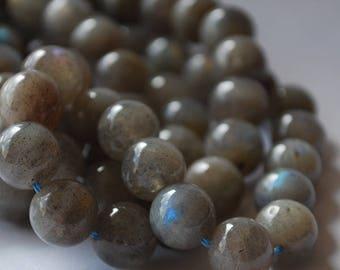 "High Quality Grade A Natural Labradorite Semi-precious Gemstone Round Beads - 4mm, 6mm, 8mm, 10mm 12mm sizes - 16"" strand"