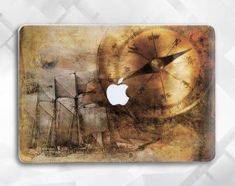 The ship Macbook Hard Case, Macbook Air case Macbook Air 11 case Macbook Air 13 Macbook Pro 15 Macbook 12 The World Map Macbook Pro Case