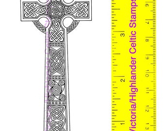 Celtic Christian Glendalough High Cross Unmounted Rubber Stamp