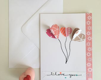 I Love You Card (handmade)
