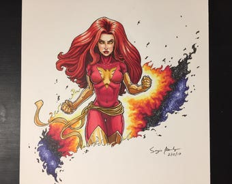 Dark Phoenix illustration by Sergio Azevedo