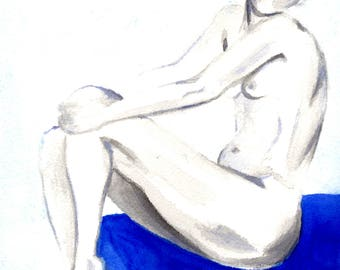 Sculpted On Blue