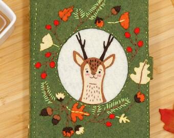 DIY Kit Autumn Forest deer Notebook / Agenda / Journal