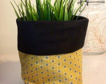 Yellow and black planter