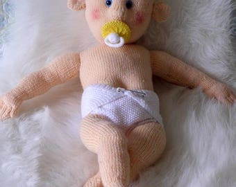 Dementia Care Baby Doll / Knitted Baby Doll / Hand knitted doll