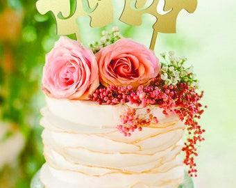 Puzzle cake topper Letter R K cake topper Wedding Cake Toppers Gold Monogram wedding cake toppers Letter K M F G Rustic Cake Topper wooden