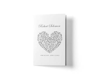 funeral handouts template - funeral etsy
