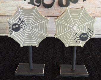 halloween spider decoration set of 2 spider decor halloween birthday decorations halloween centerpiece