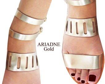 Womens Sandals, Sandals Womens,Leather Sandals,Greek Sandals,Gold  Santals,  Leather Sandals,Strappy Sandals,Archaiko ARIADNE
