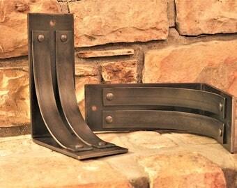 """ONE Metal Mantel Corbel, 4"""" wide, 8""""x10"""", Shelf Brackets, Countertop Support, Mantel Brackets, Heavy Duty, Decorative"""