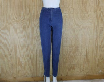 Vintage 1990's LONDON JEAN Victoria's Secret denim Blue Jeans Medium Wash High Rise Waist Straight Leg 24 X 30