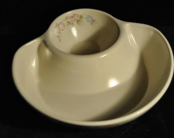 Pfaltzgraff Tea Rose individual chip and dip bowl