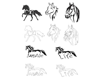 Horse Collection SVG Vector Download for Silhouette studio, Cricut, craft robo , SCAL, adobe illustrator.