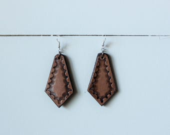 Natural Collection Brandy Earrings | Leather Earrings | Birthday Gift | Anniversary | Gifts under 25 | Handmade | Gifts for Her