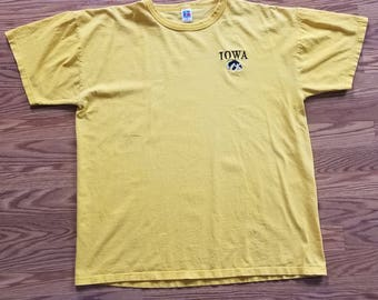 Russell Athletic Vintage 80's 90's Iowa Hawkeyes T-shirt Extra Large