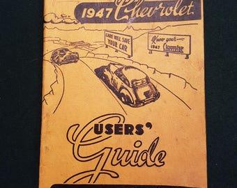 Vintage 1947 Chevrolet User's Guide booklet