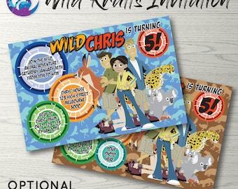 Wild Kratts Invitation, Wild Kratts Photo Invitation, Wild Kratts Party Invitation Wild Kratts Birthday Party Invitation, Wild Kratts Invite