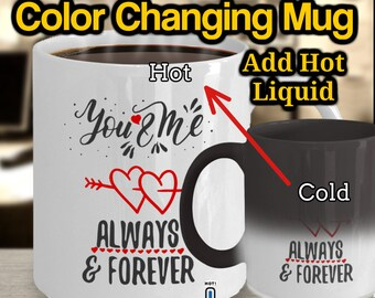 Valentines Gift For Boyfriend Color Changing Mug, Heat Changing Coffee Mug, Heat Activated, Valentines Gift For Men, Gift For Him, Husband