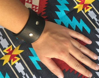Leather Rivet Cuff
