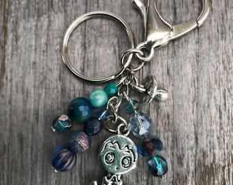 Keychains for Women, Baby Shower Gift, Unique Baby Shower Gifts, Expecting Mom Gift, Beaded Bag Charm, Baby Keychain, Mom Gift, New Baby