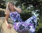 Tie Dye Yoga Bodysuit, Onesie, One Piece, Sexy, Yoga wear, Unisuit, Boho, Funky, Boho, Bohemian
