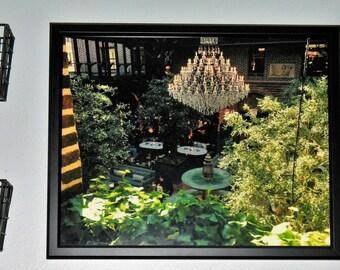 Elegant Indoor Garden Chandelier Print