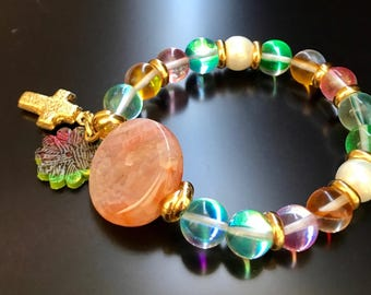 Crystal and Agate Bracelet