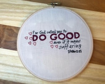 Do Good Hand Embroidery Pattern