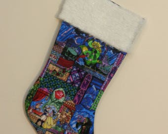 Beauty and the Beast Stained Glass Stocking
