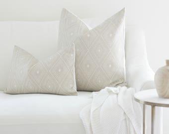 Natural Pillow, Nude Pillow, Diamond Pillow, pillow cover, farmhouse pillow, accent pillow, accent pillow cover