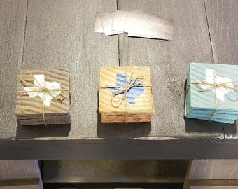 Custom Wooden Texas Coasters