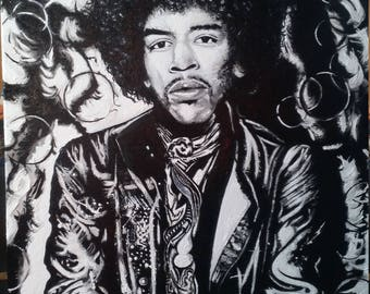 Jimi Hendrix Art Oil Painting